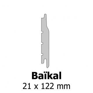 Profil bardage bois Baïkal 21x122