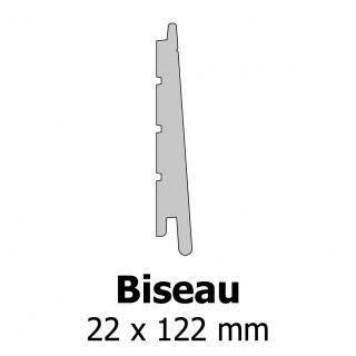 Profil bardage bois Biseau 22x122