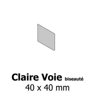 Profil bardage bois Claire Voie biseauté 40x40