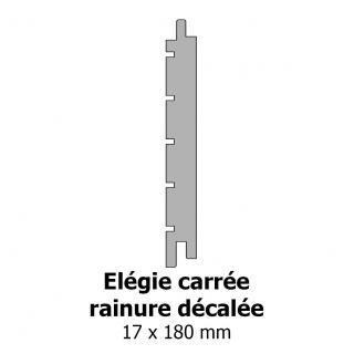 Elégie carrée rainure décalée 17x180