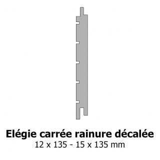 Lambris Elégie carrée rainure décalée