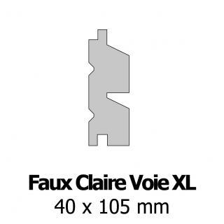 Profil bardage bois FCV XL 40x105