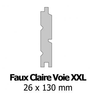 Profil bardage bois FCV XXL 26x130