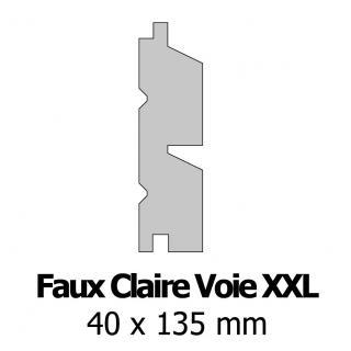 Profil bardage bois FCV XXL 40x135