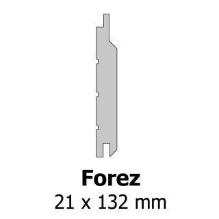 Profil bardage bois Forez 21x132