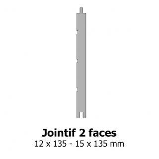 Lambris jointif 2 faces