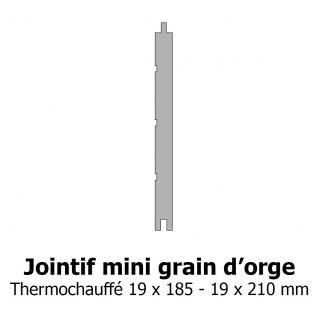 Lambris Jointif mini grain d'orge thermochauffe