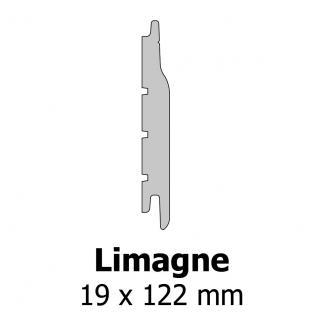 Profil bardage bois Limagne 19x122