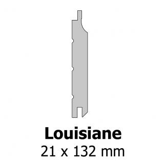 Profil bardage bois Louisiane 21x132