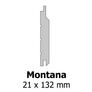 Profil bardage bois Montana 21x132