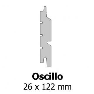 Profil bardage bois Oscillo 26x122