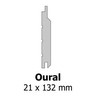 Profil bardage bois Oural 21x132