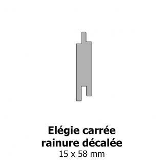 Elégie carrée arrêtes arrondies et rainure décalée 15x58