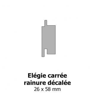Elégie carrée arrêtes arrondies et rainure décalée 26x58