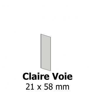 Profil bardage bois Claire Voie 21x58