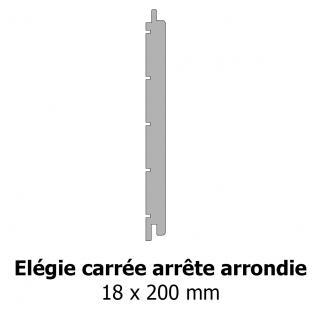 Elégie carrée arrête arrondie 18x200 mm