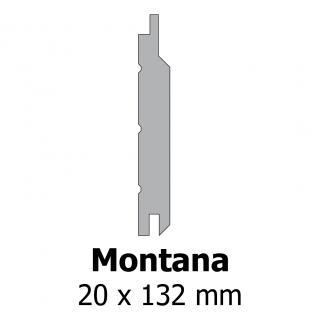 Profil bardage bois Montana 20x132