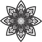 Exemple de fresque : Vecteur Mandala